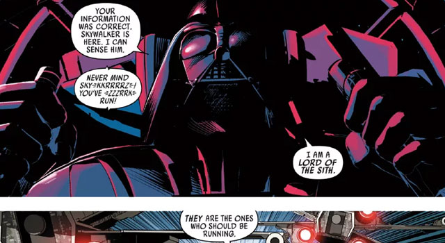 Darth Vader Comic Book